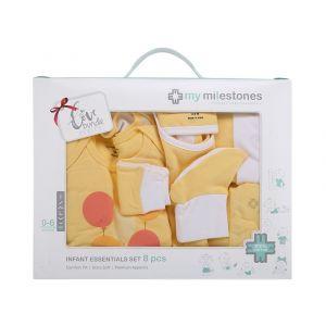 My Milestones Yellow Infant Clothing Gift Set -  8pc