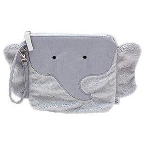 Nikiani Pebbles Gray Elephant My First Snack Buddy Polyester Insulated Snack Bag