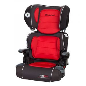 Baby Trend Black/Red PROtect Car Seat Series Yumi 2-in-1 Folding Booster Seat Salsa