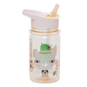 Petit Monkey Lama & Friends Peach Drinking Bottle