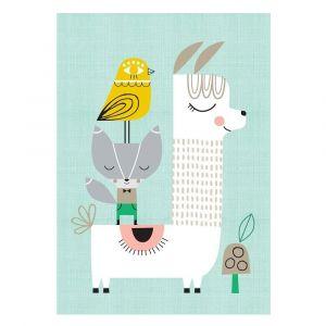 Petit Monkey Lama And Friends Poster