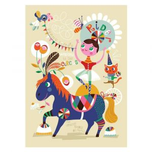 Petit Monkey Pretty Little Rider Poster