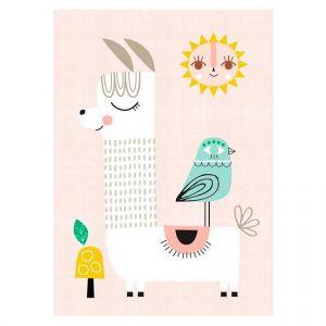 Petit Monkey Sunshine Lama Poster