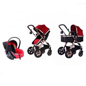 Pikkaboo Red Luxury Travel System - 3 In 1