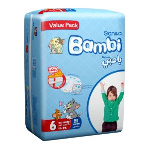 Sanita Bambi Value Pack Size 6 - Large XXL 18+ Kg - 21 Count