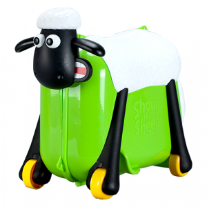 Zinc Shaun The Sheep Ride On Suit Case - Green