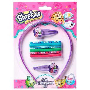 Shopkins Hair Accessory Set (Hair Band + + Pony Bands) Lavender