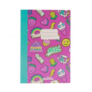 Smily Kiddos Pink A5 Lined Exercise Notebook