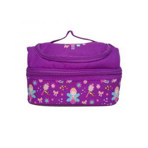 Smily Kiddos Purple Dual Slot Lunch Bag