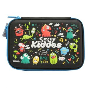 Smily Kiddos Black Single Compartment Pencil Case