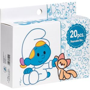 Smurfs 20 Box Disposable Bibs