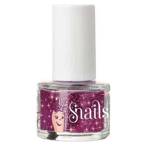 Snails Nail Glitter Purple Red Nail Polish