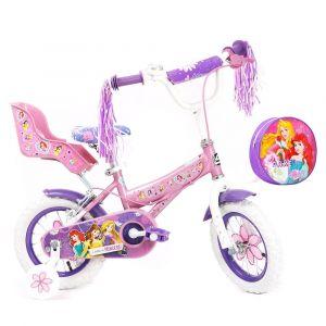 "Spartan 12"" Disney Princess Bicycle with Free Bag"