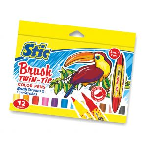 Stic Brush Twin Tip Color Pens