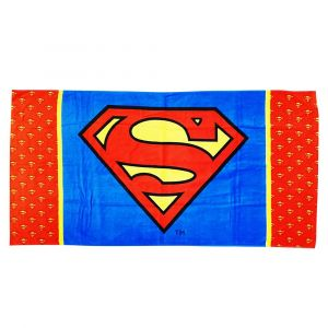Superman Beach Towel - (Red & Blue)