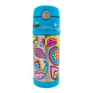 Thermos Funtainer Bottle Stainless Steel Hydration Bottle 355ml Paisley Flower