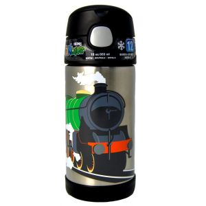 Thermos Funtainer Bottle Stainless Steel Hydration Bottle 355ml Train