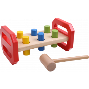 Tooky Toys Peg Bench With Hammer (12M +) - Kids Toys