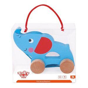 Tooky Toys Elephant Pull Along - +12m