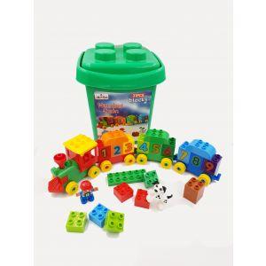 Jawda Train Building Block Set in Plastic Bucket 31pcs