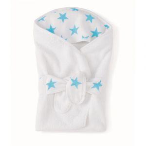 Aden + Anais Baby Bath Wrap - Fluro Blue