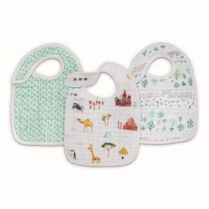 Aden + Anais Classic Snap Bibs 3- Pack Around the world