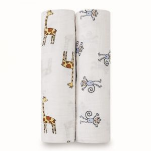 Aden + Anais Jungle Jam Classic Swaddles 2-Pack