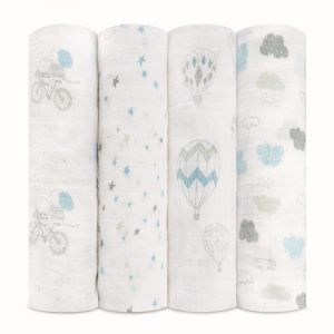 Aden + Anais Night Sky Reverie Classic Swaddles 4-Pack