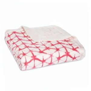 Aden+Anais Berry Shibori Silky Soft Dream Blanket