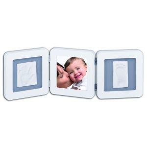 Baby Art White & Grey Double Print Frame