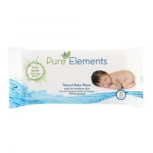 Pure Elements Natural Wipes with Aloe - 30 sheets