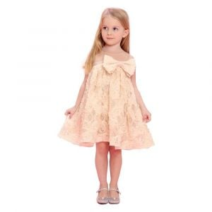 Baby Doll - Beige Dress With Lace
