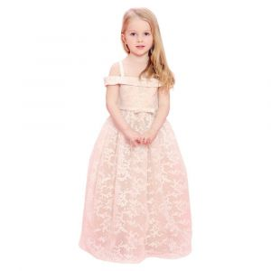 Baby Doll - Ivory Embroider Long Dress With Sequence