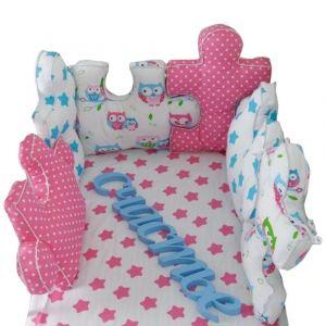 Baby Bay Owl Puzzle Bed Bumper
