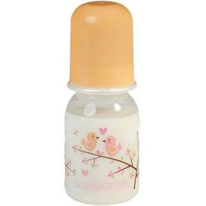 Baby Nova Orange Decorated Polypropylene Bottle - 125ml