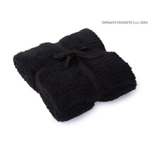 Barefoot Dreams Black Cozychic Throw Plush Towel