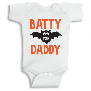 Twinkle Hands Batty Daddy Halloween Baby Onesie, Bodysuit, Romper