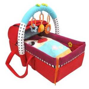 Qtot Red 2 in 1 Deluxe Snuggle Baby Basket & Mat