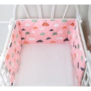 Pink Clouds Bed Bumper
