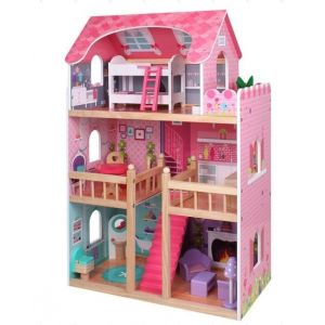 Eureka Kids Pink Big Dolls House