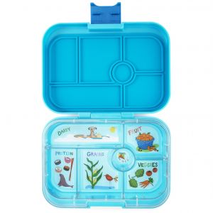 Yumbox Original Blue Fish Lunch Box - 6 Compartments