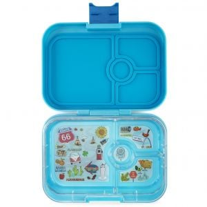 Yumbox Panino Blue Fish Lunch Box - 4 Compartments