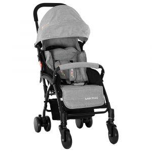 Baby Plus Stroller Cum Pram - Grey