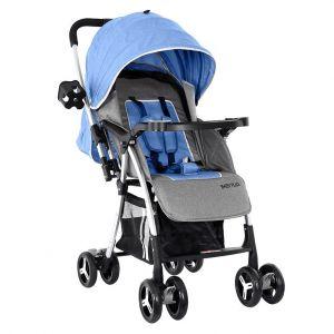 Baby Plus Stroller Cum Pram - Blue & Grey
