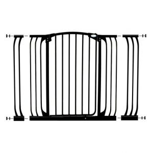 Dreambaby Black Chelsea Xtra Wide Hallway Security Gate & Extension Set 1 Gate 2 Extensions
