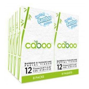Caboo - Pocket Facial Tissue- 8-pack, 12 sheets