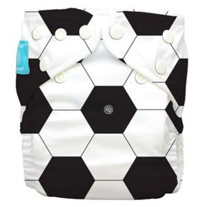 Charlie Banana Diaper 2 Inserts Soccer One Size Hybrid Aio