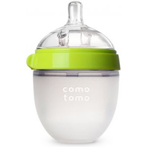 Comotomo - Natural Feel Baby Bottle - 1pc - 150 ml - Green