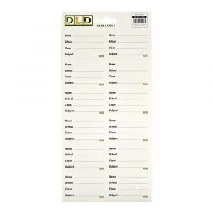 Compap 12 Pcs English Name Label - Pack Of 10