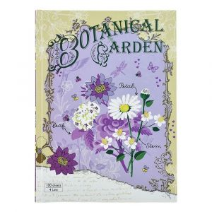 Compap Note Book 4 Line 100 Sheet H/C Botanical Garden School Books - Pack Of 3
